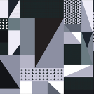 Grayscale Patchwork Micro Weave